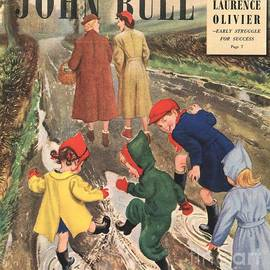 The Advertising Archives - John Bull 1949 1940s Uk Puddles Winter