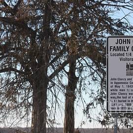 Kathy Cornett - John Clancy Family Cemetery