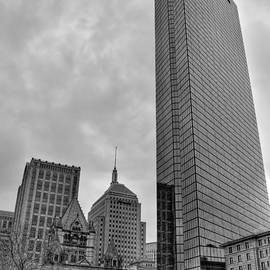 Joann Vitali - John Hancock and Trinity Church in Black and White - Boston