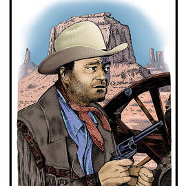 Joseph Juvenal - John Wayne and Six Shooter