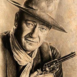 Andrew Read - John Wayne sepia scratch