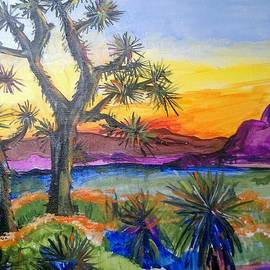 Paula Stacy Adams - Joshua Tree at sunset