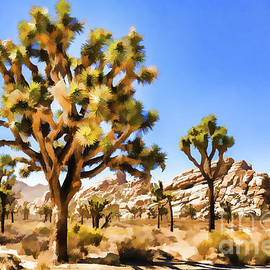 Nicholas  Pappagallo Jr - Joshua Tree Watercolor