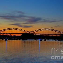 Marcel  J Goetz  Sr - July Sunset At The Arrigoni Bridge