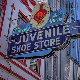 Joan Carroll - Juvenile Shoe Store Vintage Sign