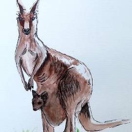 Anne Gardner - Kangaroo And Joey