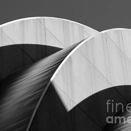 Catherine Sherman - Kauffman Center Curves and Shadows Black and White