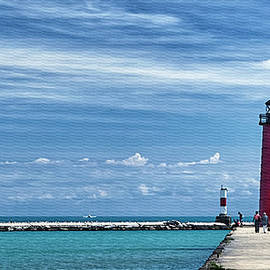 Joan Carroll - Kenosha North Pier Lighthouse
