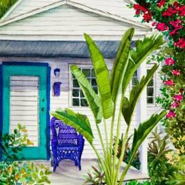 Michelle Wiarda - Key West Cottage Watercolor