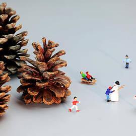 Paul Ge - Kids merry Christmas by pinecones