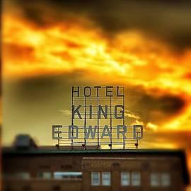 Jim Albritton - King Edward Hotel Sign at Sunset