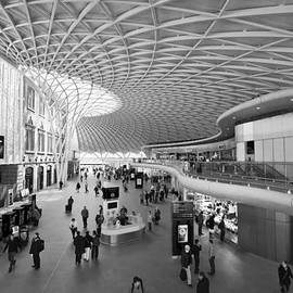 David French - Kings Cross railway station London BW