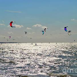 Maja Sokolowska - Kitesurfers in Zeeland Netherlands