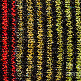 Les Palenik - Knitted striped scarf