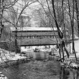 Bill Cannon - Knox Covered Bridge Valley Forge in Black and White