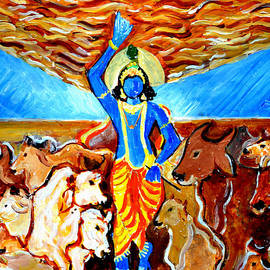 Anand Swaroop Manchiraju - Krishna Lifting Govardhan Hill