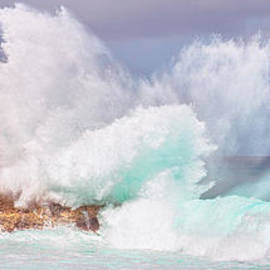 Eric Evans - Kukuihoolua Island Exploding Wave From Laie Point