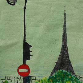 Taikan Nishimoto - La Tour Eiffel By Taikan Nishimoto