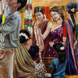 Dominique Amendola - Ladies at the flower market in india