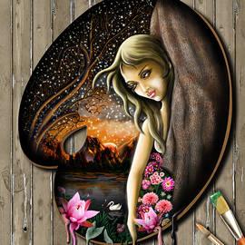 Arun Sivaprasad - Lady In The Drawing Palette