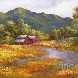 Gail Salituri - Lake County Red Barn in Poppy