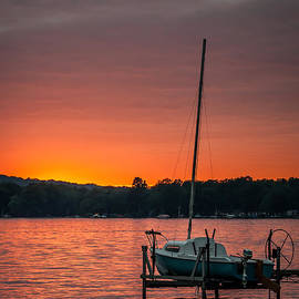 At Lands End Photography - Lake Sunset and Sailboat
