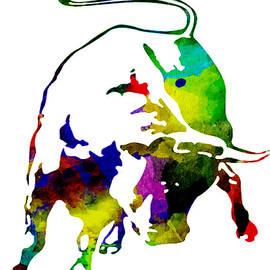 Eti Reid - Lamborghini bull emblem colorful abstract.