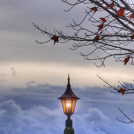 Joann Vitali - Lampost in the Clouds - Stowe Vermont