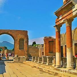 John Malone - Landscape at Pompeii Italy Ruins