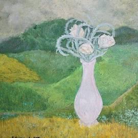 Elzbieta Goszczycka - Landscape with a bouquet