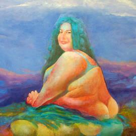 Magdalena Walulik - Landscape with sitting woman