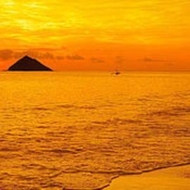 Eric Evans - Lanikai Beach Amber Sunrise Panorama