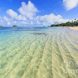 Eric Evans - Lanikai Beach Mid Day Ripples in the Sand