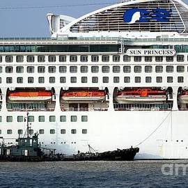 Yali Shi - Large Cruise Ship Docks in Taiwan