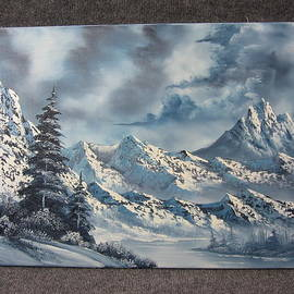 Kevin Hill - Large Snowy Mountains SOLD