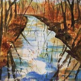 Ellen Levinson - Last Days of Autumn - Creek Reflections