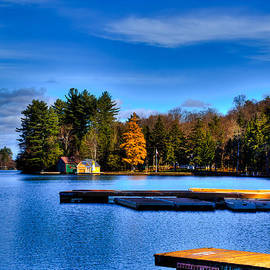 David Patterson - Late Fall on Old Forge Pond