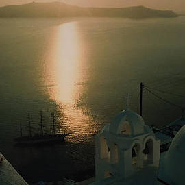 Colette V Hera  Guggenheim  - Late Night Santorini Island View Greece