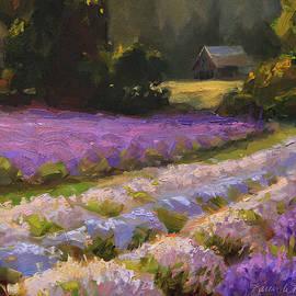 Karen Whitworth - Lavender Farm Sunset
