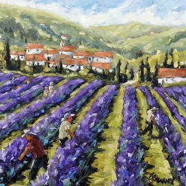 Richard T Pranke - Lavender Harvest by Prankearts