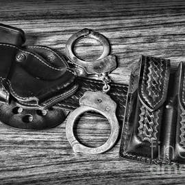 Law Enforcement - Police - Duty Belt in Black and White