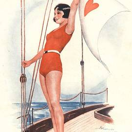 The Advertising Archives - Le Sourire 1931 1930s France Sailing