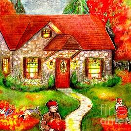 Barbara LeMaster - Leaf Raking Time