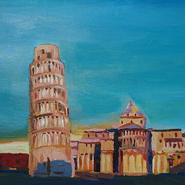 M Bleichner - Leaning Tower of Pisa with Cathedral Square Italy