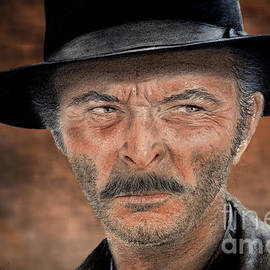 Jim Fitzpatrick - Lee Van Cleef as Angel Eyes in The Good the Bad and the Ugly Version II