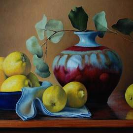 Dan Petrov - Lemons with red vase