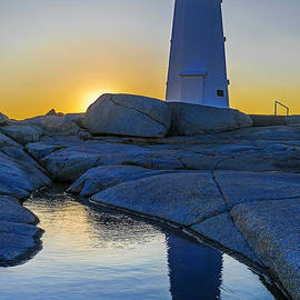 Ken Morris - Lighthouse at Sunset