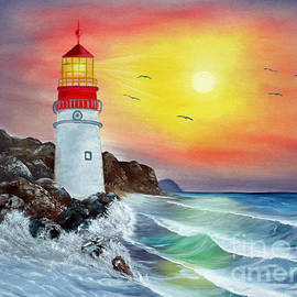 ILONA ANITA TIGGES - GOETZE  ART and Photography  - Lighthouse in the surf