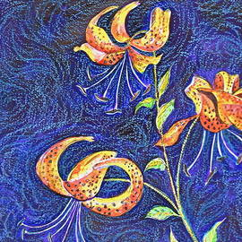 Ion vincent DAnu - Lilies at Night