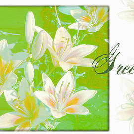 Sandra Foster - Lilies Greeting Card